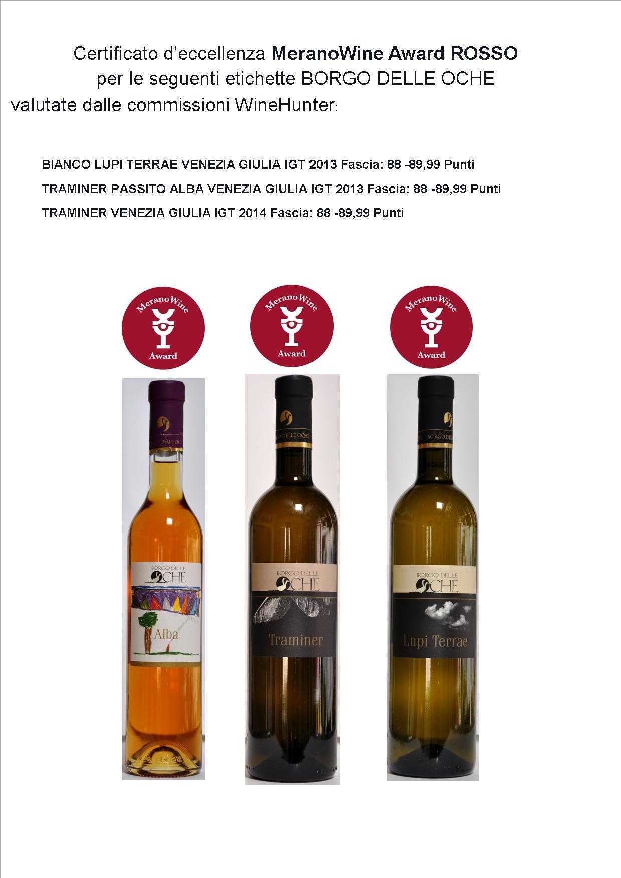 riconoscimenti merano wine award